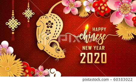 Happy Chinese new year 2020. The year of the Rat. 60383022