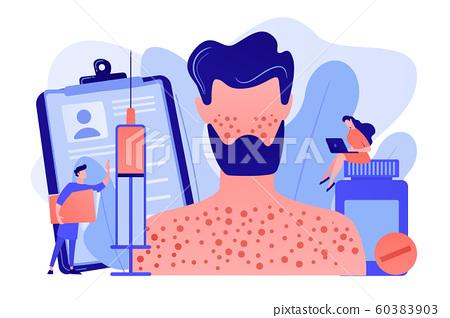 Drug allergy concept vector illustration. 60383903