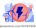Wind power concept vector illustration. 60383906
