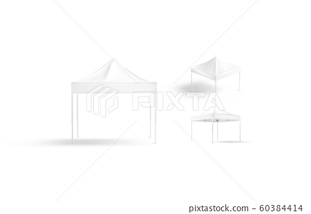 Blank White Pop Up Canopy Tent Mockup Stock Illustration 60384414 Pixta