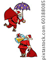 set collection Christmas Santa Claus magical and drunk 60388085