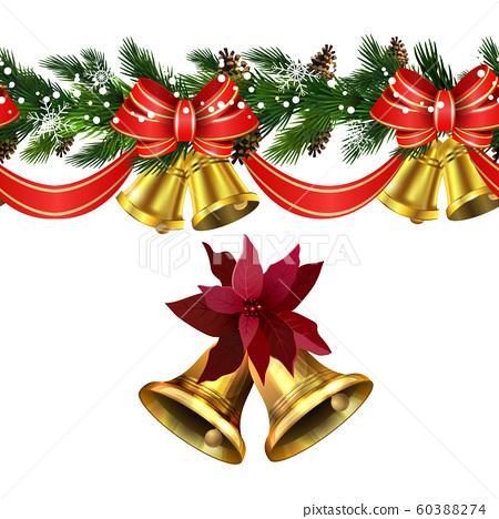 Vector Christmas Border decoration collection 60388274