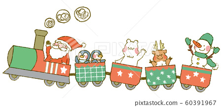 聖誕火車(帶動物) 60391967