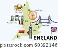 World travel map attraction tourist symbols sightseeing illustration 002 60392146