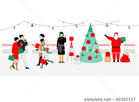 Merry Christmas and Happy New Year time cartoon illustrations 009 60392317