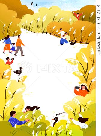Autumn Activity, people spend time outdoors fall season illustration 002 60392334