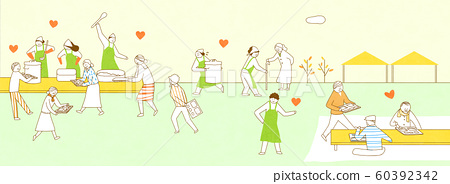 the Society of Sharing Love concept illustration 004 60392342