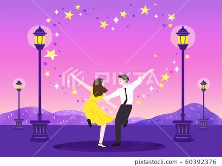 Romantic Relations, Loving happy couple illustration 007 60392376