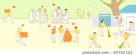the Society of Sharing Love concept illustration 008 60392382