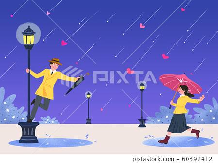 Romantic Relations, Loving happy couple illustration 005 60392412