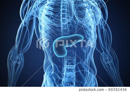 3D rendering medical or microbiological concept image 022 60392436