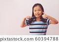 Little asian cute girl brush teeth 60394788