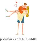 일러스트 소재 : 커플, 사랑, 키스, 라이프 스타일 60396689