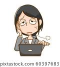 컨디션 불량 여성 수면 부족 60397683