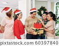 Family celebrating Christmas 60397840
