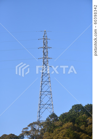 Steel Tower and High Voltage Line 60398342