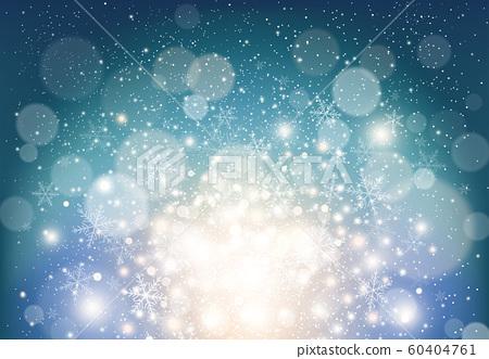 크리스마스 배경 눈송이와 반짝이 60404761