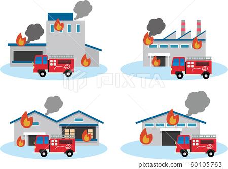 화재 화재 공장 60405763