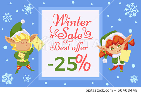 Winter Xmas Sale and Best Offer, Christmas Elves 60408448