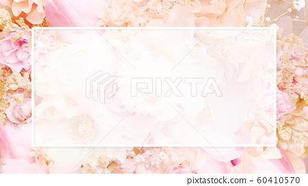 배경 - 꽃 - 핑크 - 프레임 60410570