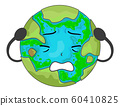 Earth Mascot Algae Illustration 60410825