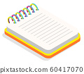 Colorful Blank Spiral Notebook Isometric Vector 60417070