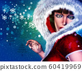 Winter girl in red outfit 60419969