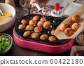 cooking home style takoyaki, japanese octopus 60422180