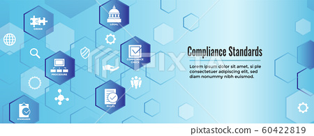 In compliance web banner - icon set that shows a 60422819