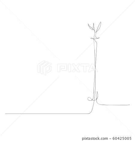 Continuous one line drawing standing hanger. Vector stock illustration. 60425005