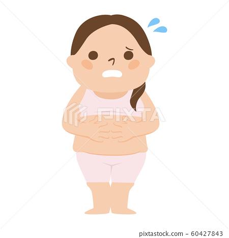 一名肥胖婦女的例證。一個肥胖的女人。 60427843