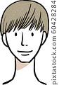 남성 헤어 스타일 매쉬 갈색 머리 60428284