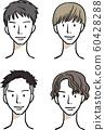 男子髮型髮型圖案 60428288