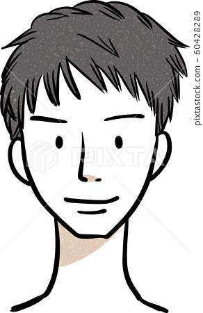 Male hairstyle short hair 60428289