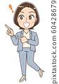 커리어 우먼의 일러스트 전직 직업 정장 여성 60428679