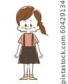 女孩微笑全身 60429134