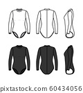 Clothing set of woman surf suit. 60434056