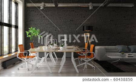 Interior of modern living room 3D rendering 60438850