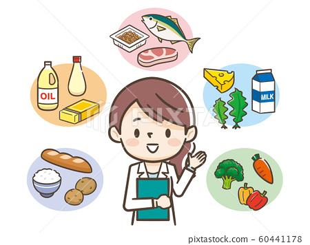 Five major nutrition dietitian 60441178