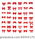 set of Red bow flat design isolated on white 60443175