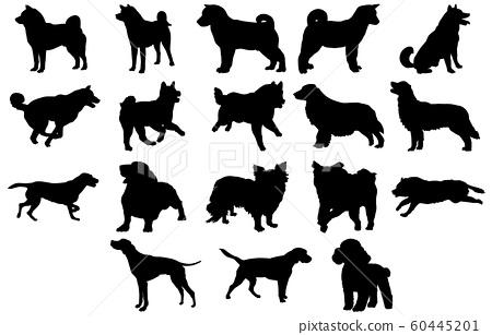 動物剪影寵物狗 60445201