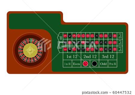 賭場輪盤賭桌平面設計 60447532