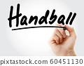 Hand writing Handball with marker 60451130