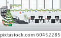 coworking center decorated for christmas holidays celebration modern office interior horizontal 60452285
