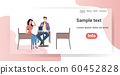 couple sitting at cafe table happy man woman discussing during meeting romantic date concept modern restaurant interior horizontal full length copy space 60452828