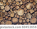 Wooden background, wood cross sections. Natural 60453656