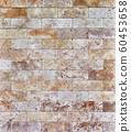 Travertine stone tiled wall texture, masonry 60453658