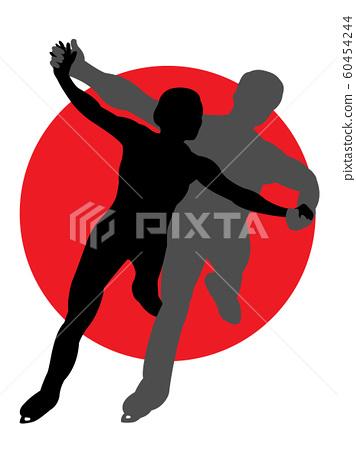 Figure skating pair silhouette 60454244