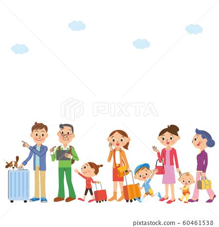與大家庭一起旅行 60461538