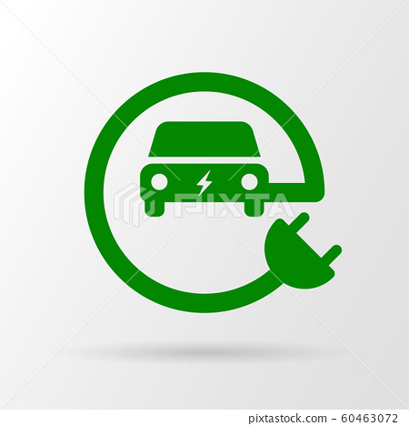 Electric eco car icon 60463072